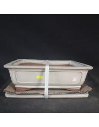 Maceta rectangular 37.5x30x12cm.